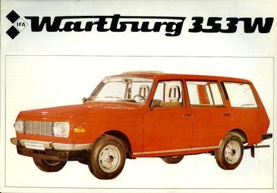 Wartburg 353 W Kombi Prospekt 1982
