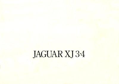 Jaguar XJ 3.4 Serie 2 Prospekt 1975