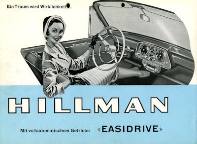 Hillman Easydrive Prospekt 1960er Jahre