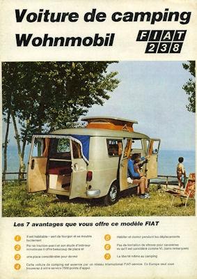 Fiat 238 Wohnmobil Prospekt 1969 f