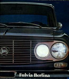 Lancia Fulvia Berlina Prospekt 1971