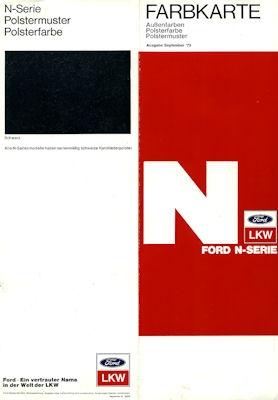 Ford N-Serie Farben 1973