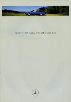 Mercedes-Benz E 200 Cabriolet Prospekt 1994