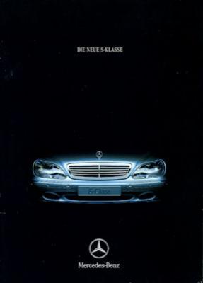 Mercedes-Benz S Klasse Prospekt 8.1998
