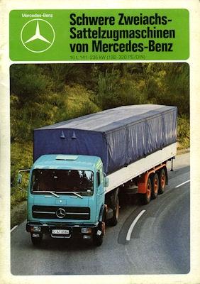Mercedes-Benz Schwere Zweiachs-Sattelzugmaschine Prospekt 1979