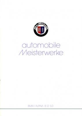 BMW Alpina B 12 5.0 Prospekt 1992