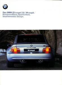 BMW Z 3 Coupé 2.8 / M Coupé Prospekt 1998
