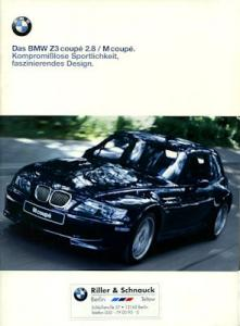 BMW Z 3 Coupé 2.8 / M Coupé Prospekt 2000