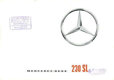 Mercedes-Benz 230 SL Prospekt 3.1963 e