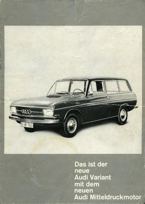 Audi Variant Prospekt 1966