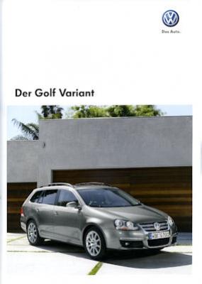 VW Golf VI Variant Prospekt 2009