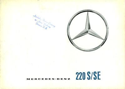 Mercedes-Benz 220 S/SE Prospekt 7.1961 e