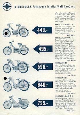Kreidler Preisliste 3.1955