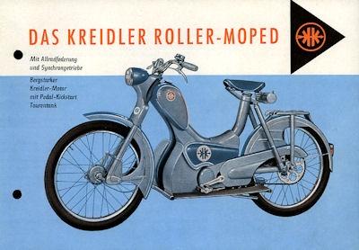 Kreidler Rollermoped J 51 R Prospekt 6.1956