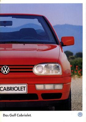 VW Golf III Cabriolet Prospekt 1997