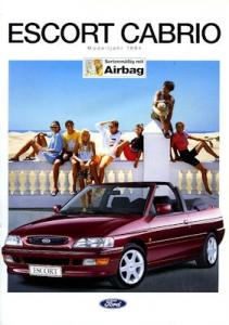 Ford Escort Cabrio Prospekt 1994