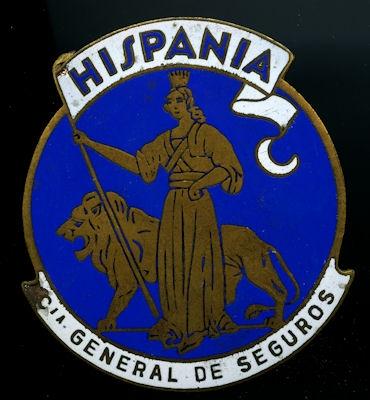 Plakette Hispania 1950er Jahre