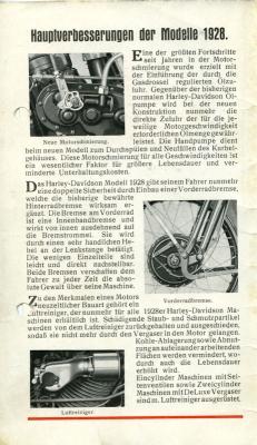 Harley-Davidson Programm 1928 1