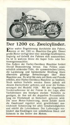 Harley-Davidson Programm 1928 5