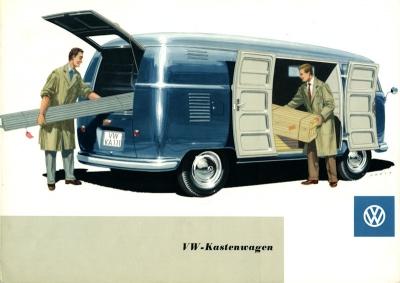 VW Bus / Transporter Kastenwagen Prospekt 1958