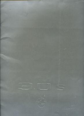 BMW 3.0 S Prospekt-Mappe 4.1971