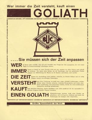 Goliath Kleinlieferwagen Prospekt ca. 1928