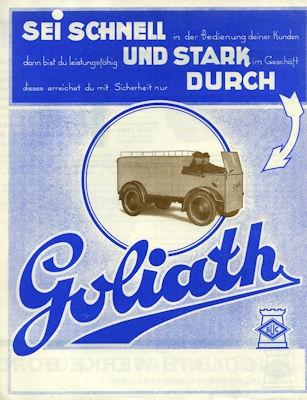 Goliath Type K 1 Prospekt 1928