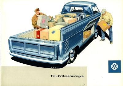 VW Pritschenwagen Prospekt 1958