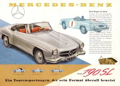Mercedes-Benz 190 SL Prospekt 1955
