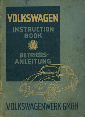 VW Käfer Bedienungsanleitung 9.1948