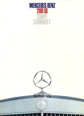 Mercedes-Benz 280 SE Coupe Cabriolet Prospekt 12.1967