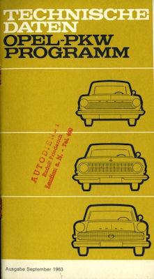 Opel Programm 9.1963