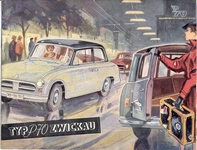 Trabant P 70 Zwickau Prospekt 1956