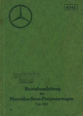 Mercedes-Benz Typ 320 Bedienungsanleitung 1939