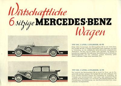 Mercedes-Benz Wagen für Sechs Prospekt 5.1932 1