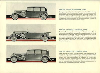 Mercedes-Benz Wagen für Sechs Prospekt 5.1932 2