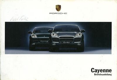 Porsche Cayenne Bedienungsanleitung 5.2002