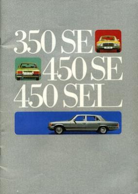 Mercedes-Benz 350 SE-450 SEL Prospekt 1973