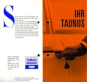 Ford Taunus Spezial Zubehör Prospekt 7.1963