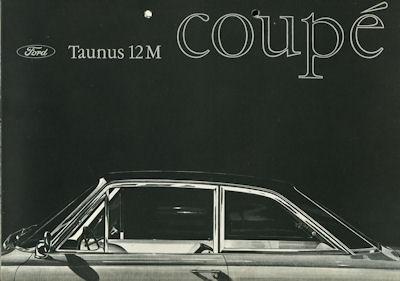 Ford Taunus 12 M Coupé Prospekt ca. 1966