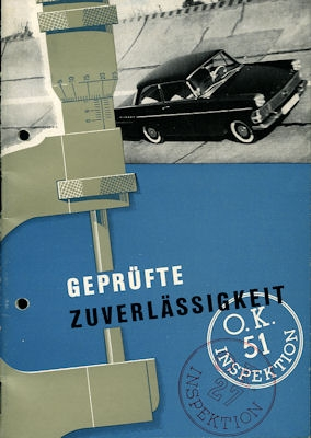 Opel Rekord P 2 Prospekt ca. 1961