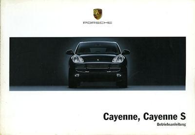 Porsche Cayenne / Cayenne S Bedienungsanleitung 8.2003