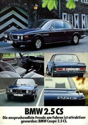 BMW 2.5 CS Prospekt 1974