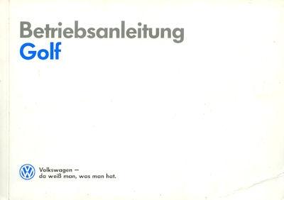 VW Golf 2 Bedienungsanleitung 2.1989