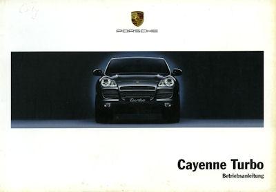 Porsche Cayenne Turbo Bedienungsanleitung 8.2003