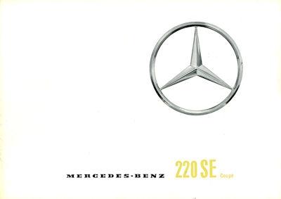 Mercedes-Benz 220 SE Coupé Prospekt 4.1961