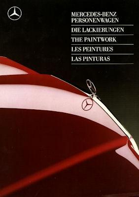 Mercedes-Benz Farben Prospekt 5.1987