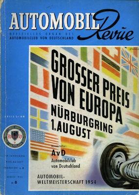 Automobil Revue 1954 Heft 8