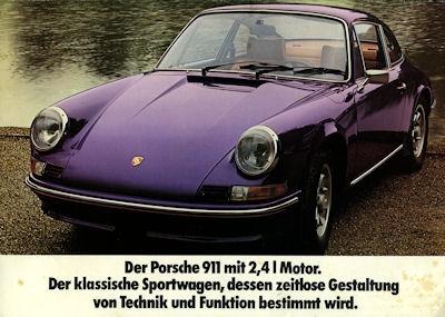 Porsche 911 2,4 Liter Prospekt 1972