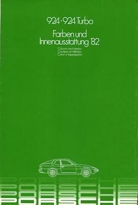 Porsche 924 Farben 1982